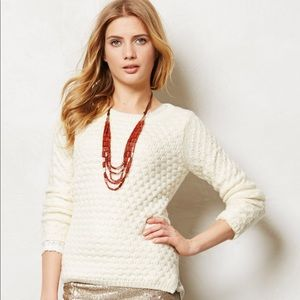 Anthropologie Rennes ivory sweater